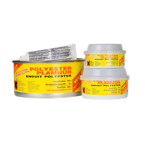 Mastic Polyester finition + catalyseur 2 kg